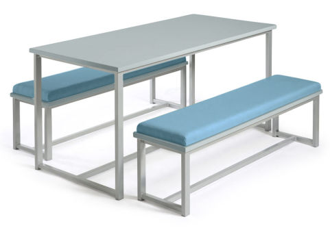 Autom Bench Dining Set Grey And Blue