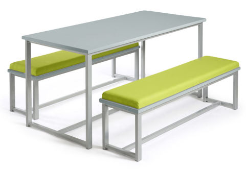 Autom Bench Dining Set Grey And Green
