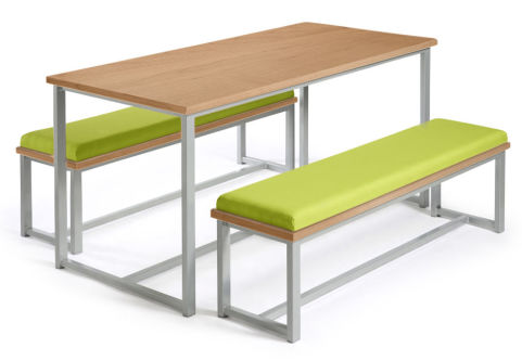 Autom Bench Dining Set Oak And Green
