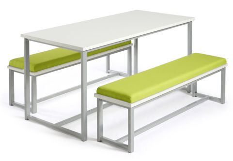 Autom Bench Dining Set White And Green