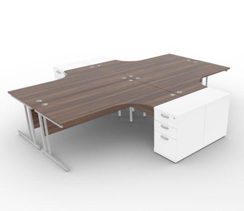 New Ben Revolution Walnut And White Desks