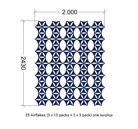 Airflake Screen Dimensions 2000m X 2430mm