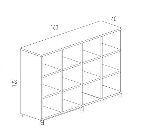 Cubic Dimensions Storage 12 Compartments