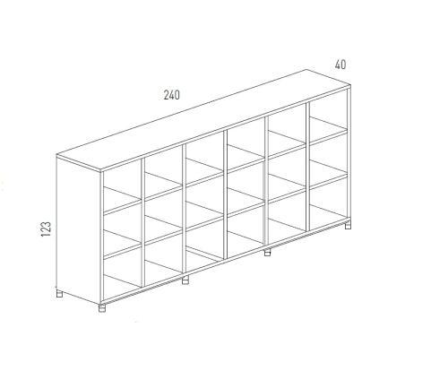 Cubic Dimensions Storage 18 Compartments Medium Unit