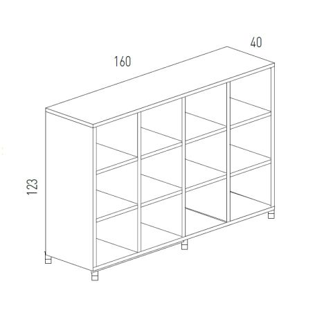 Cubic Dimensions Storage 12 Compartments
