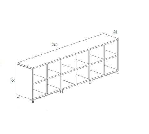 Cubic Dimensions Storage 12 Compartments Low Unit