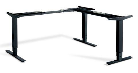 Rapid Plus Height Adjustable Corner Desk Frame And Control Black