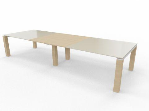 Stream BOARDROOM TABLE Light Oak Glass Top