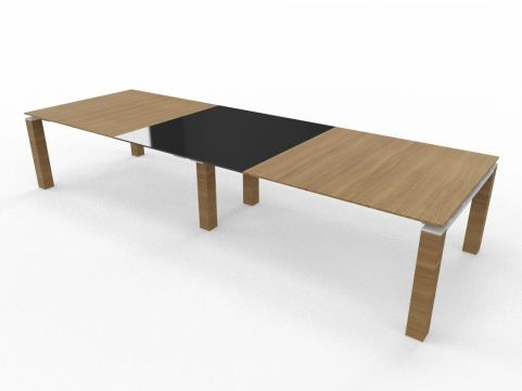3 Piece Table Glass And Wood Glass Top Wood