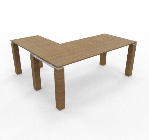 Desk And Return Jet Stream Wooden Legs