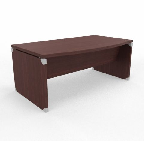 XPT 1800mm Panel Desk Top And Sides Caneletto Wenge