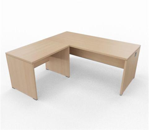 Caba Desk And Return Ubit Free Standing Walnut Light Oak