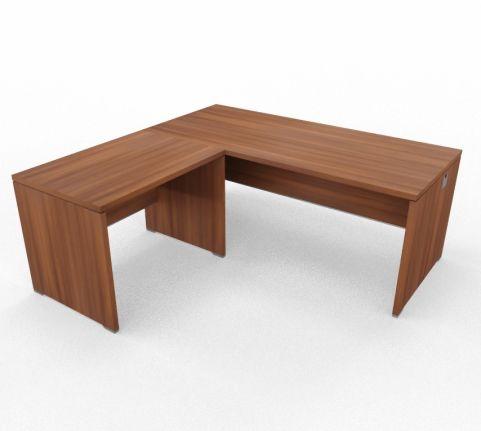 Caba Desk And Return Ubit Free Standing Walnut