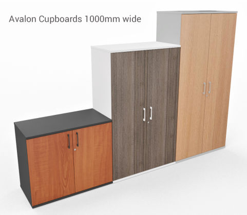 AVALON TWO TONE PRIME EXECUTIVE STORAGE UNIT CUPBOARDS 1000MM WIDE
