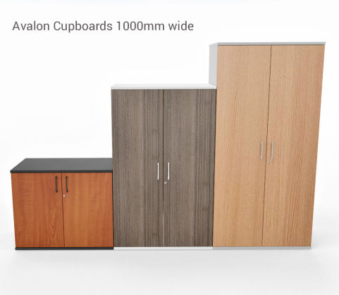 AVALON TWO TONE PRIME EXECUTIVE STORAGE UNIT 1000MM WIDE CUPBOARDS