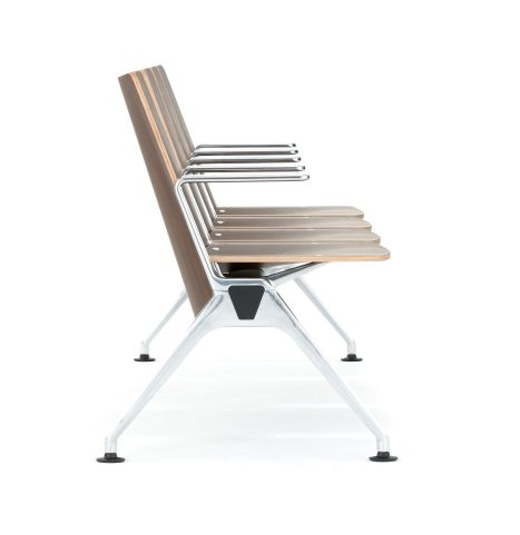 Destination Beam Seating Wooden Seat Shells Side View