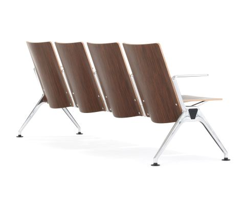 Destination Beam Seating Wooden Seat Shells Rear View