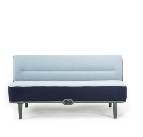 Mote Two Seater Sofa No Back Front