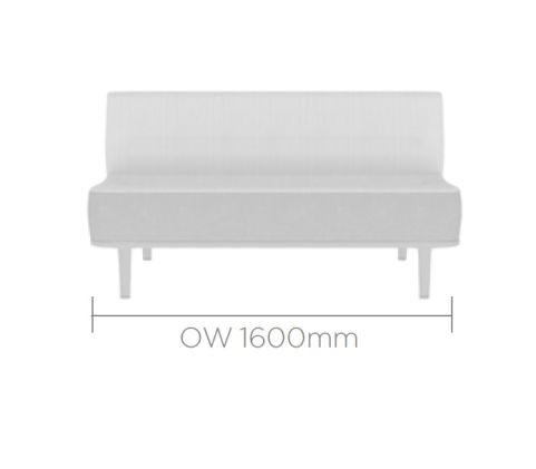 Mote Double Seater With Back 1600mm Wide