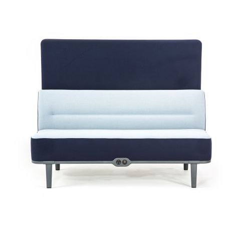 Mote Two Seater Sofa With Rear Screen