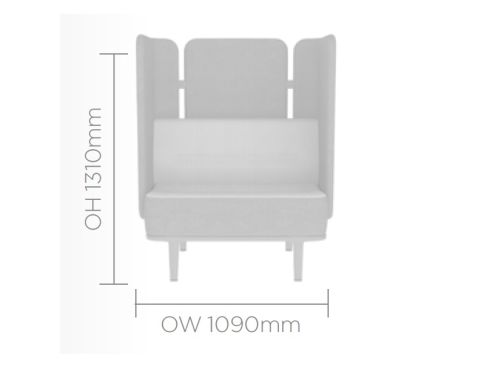 Mote Single Seater With Back And Side Screens