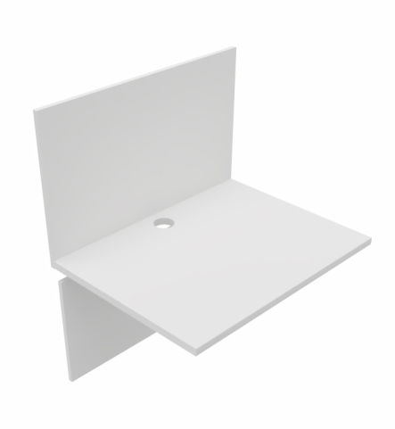 Desktop And Back Panel For Offimat Booths White