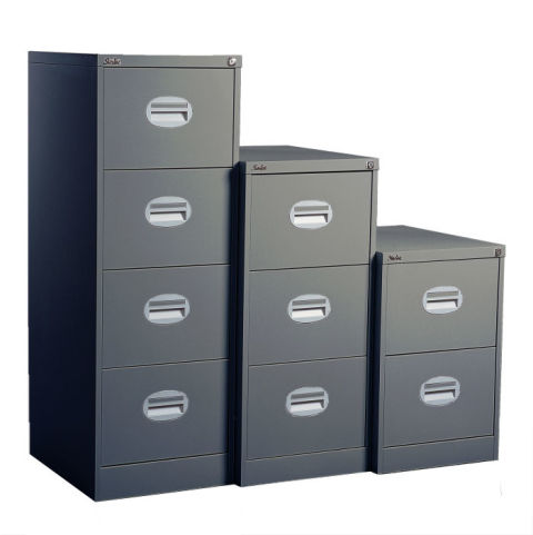 Kontrax Multi Coloured Filing Cabinet Band A Grey
