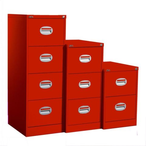 Kontrax Multi Coloured Filing Cabinet Band A Red