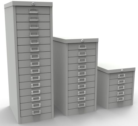 Multidrawers Locking Light Grey (002)