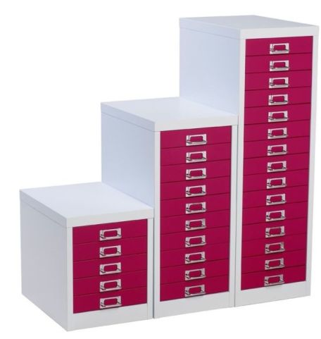 S Line Two Tone Multi Drawer Cabinet
