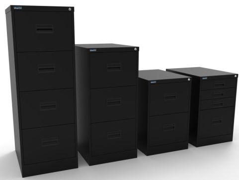 Midi Filing Cabinet Black