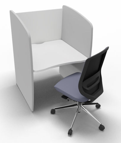 Offimat Series 120 Booth White And Silver Chair 2