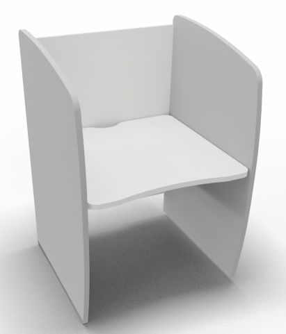 Offimat Series 120 Booth White And Silver