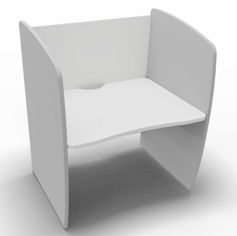 Offimat Series 120 Booth White And Silver 1000mm