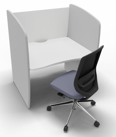 Offimat Series 120 Booth White And Silver Chair 1000mm