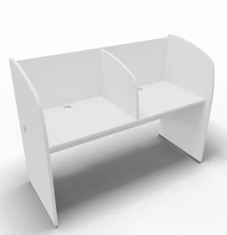Offimat 120 Two Person Booth White