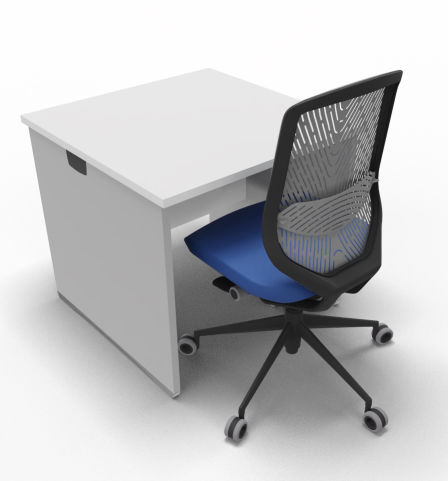 Offimat Rectangular Desk Square Chair