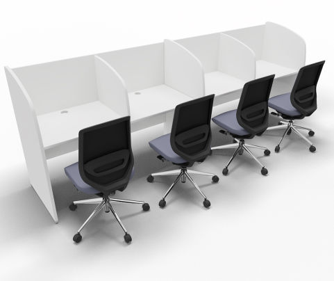 Offimat Four Person Booth Chairs