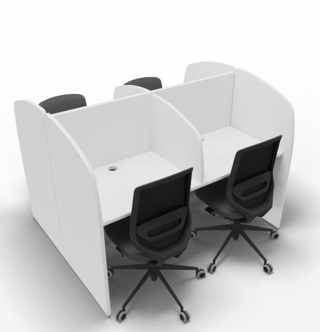 Offimat Four Person Booth Block Chairs