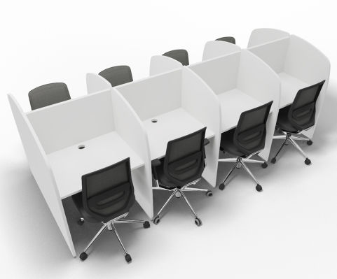 Offimat Eight Person Booth Chairs