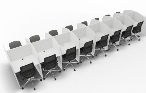 Offimat 16 Person Call Centre Booth Chairs