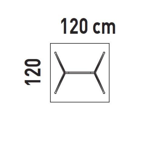 Black Glass Actiu 1200mm X1200mm