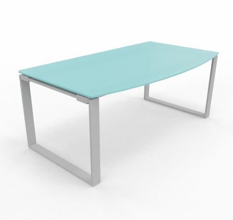 Bow Fronted Desk Glass Top Loop Frame