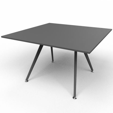 Arkitek Executive Square Table In Black With Black Legs
