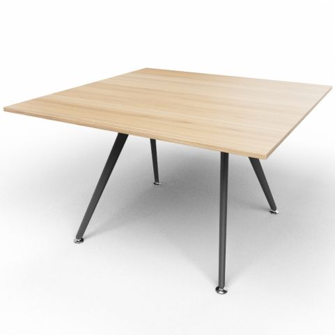 Arkitek Executive Square Table In Chestnut With Black Legs