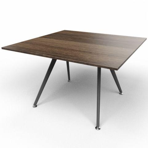 Arkitek Executive Square Table In Dark Oak With Black Legs