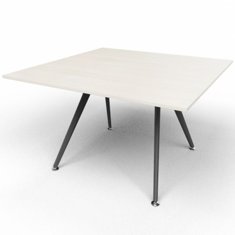 Arkitek Executive Square Table In Lime Oak With Black Legs