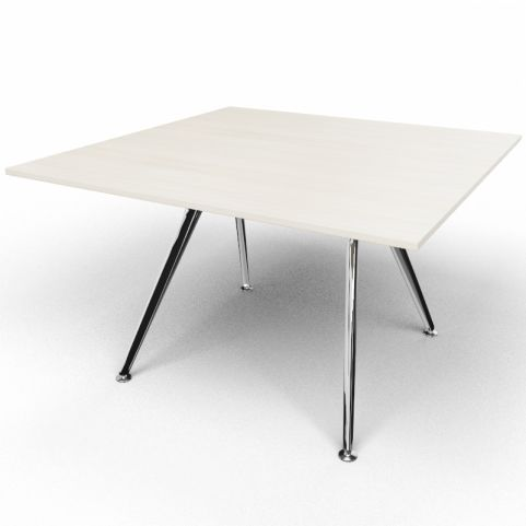 Arkitek Executive Square Table In Lime Oak With Polished Legs