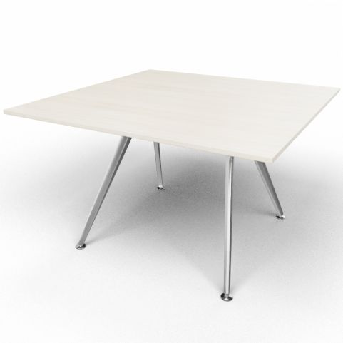 Arkitek Executive Square Table In Lime Oak With Silver Legs