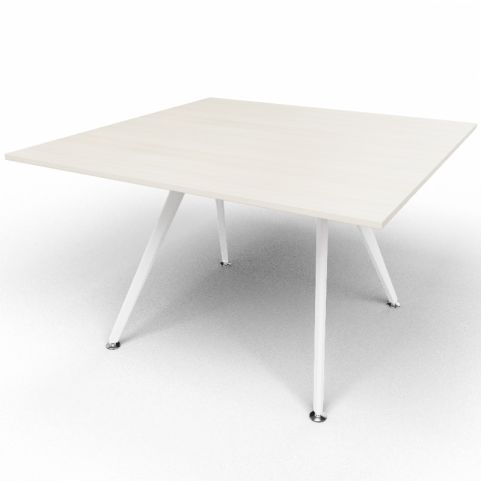 Arkitek Executive Square Table In Lime Oak With White Legs